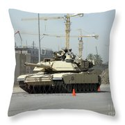 A M1 Abram Sits Out Front Of The New Throw Pillow by Terry Moore