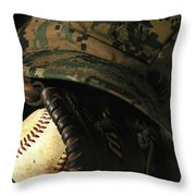 A Marines Athletic Gear Throw Pillow by Stocktrek Images