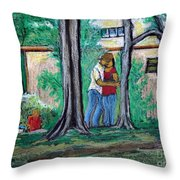 A Nice Day In Dominion Square  Throw Pillow by Reb Frost