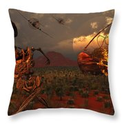A Pair Of P-51 Mustang Fighter Planes Throw Pillow by Mark Stevenson