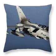 A Panavia Tornado Gr4 Of The Royal Air Throw Pillow by Gert Kromhout