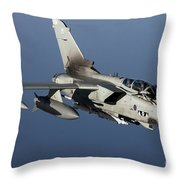 A Panavia Tornado Gr4 Of The Royal Air Throw Pillow by Gert Kromhout