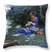 A Quiet Afternoon Throw Pillow by William Henry Lippincott