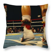 A Referee And Boxers Prepare Throw Pillow by Maria Stenzel