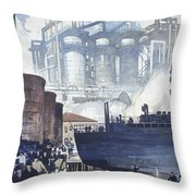 A Refinery Turns Petroleum Into Gas Throw Pillow by Thorton Oakley