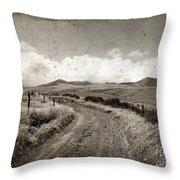 A Rural Path In Auvergne. France Throw Pillow by Bernard Jaubert