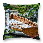 A Safe Haven Throw Pillow by Julia Springer