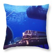 A Seal Delivery Vehicle Hovers Throw Pillow by Michael Wood