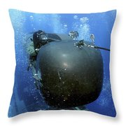 A Seal Delivery Vehicle Team Member Throw Pillow by Stocktrek Images
