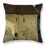 A Section Of Wall Around Tallinn, Built Throw Pillow by Sisse Brimberg