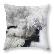 A Severe Winter Storm Throw Pillow by Stocktrek Images