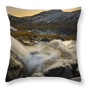A Small Creek Running Throw Pillow by Arild Heitmann