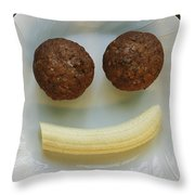 A Smiling Breakfast Of Muffins Throw Pillow by Marc Moritsch