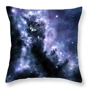 A Solar Sail Appears From The Dusty Throw Pillow by Brian Christensen