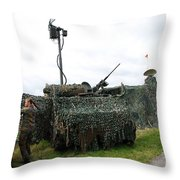 A Soldier Of The Belgian Army Throw Pillow by Luc De Jaeger