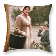 A Source of Admiration Throw Pillow by Edmund Blair Leighton
