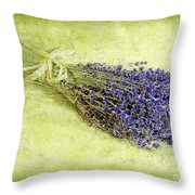A Spray of Lavender Throw Pillow by Judi Bagwell