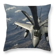 A U.s. Air Force F-16c Block 50 Throw Pillow by Giovanni Colla