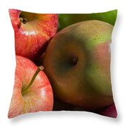 A Variety Of Apples Throw Pillow by Heidi Smith