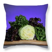 A Variety Of Lettuce Throw Pillow by Photo Researchers, Inc.