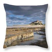 A View Of Bamburgh Castle Bamburgh Throw Pillow by John Short
