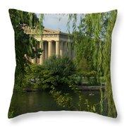A View Of The Parthenon 3 Throw Pillow by Douglas Barnett