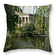 A View Of The Parthenon 6 Throw Pillow by Douglas Barnett
