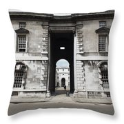 A View Of The Royal Naval College Throw Pillow by Anna Villarreal Garbis