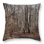 A Walk In The Woods Throw Pillow by Robert Margetts