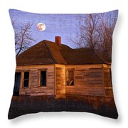 Abandoned Farm House Throw Pillow by Richard Wear