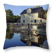 Abbotts Mill Throw Pillow by Brian Wallace