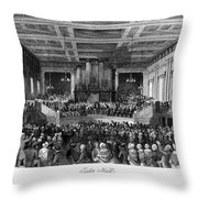 ABOLITION CONVENTION, 1840 Throw Pillow by Granger