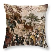 Abolition Of Slavery, 1794 Throw Pillow by Granger