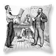 Abolitionist Newspaper Throw Pillow by Granger