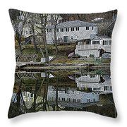 Above And Below Throw Pillow by Luke Moore