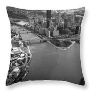 Above Pittsburgh  Throw Pillow by Emmanuel Panagiotakis