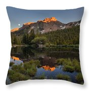 Absaroka Range Reflection Throw Pillow by Leland D Howard