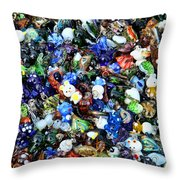 Abstract - Colored Glass Characters Throw Pillow by Paul Ward
