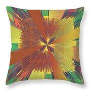 Abstract 4 Throw Pillow by Deborah Benoit