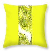 Abstract Fusion 107 Throw Pillow by Will Borden