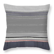 Abstract Grey Throw Pillow by Naxart Studio