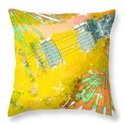 Abstract Guitar Throw Pillow by David G Paul
