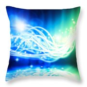 Abstract Lighting Effect  Throw Pillow by Setsiri Silapasuwanchai