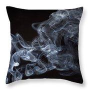 Abstract smoke running horse Throw Pillow by Setsiri Silapasuwanchai