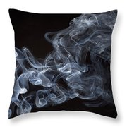 Abstract Smoke Running Horse Throw Pillow by Setsiri Silapasuwanchai
