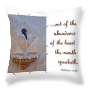 Abundance Of The Heart Throw Pillow by Larry Bishop