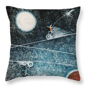 Across The Universe Throw Pillow by Graciela Bello
