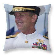 Admiral Eric T. Olson Speaks Throw Pillow by Michael Wood