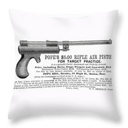 Advertisement: Air Pistol Throw Pillow by Granger