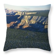 Aerial View Of Kaibab Throw Pillow by Norbert Rosing